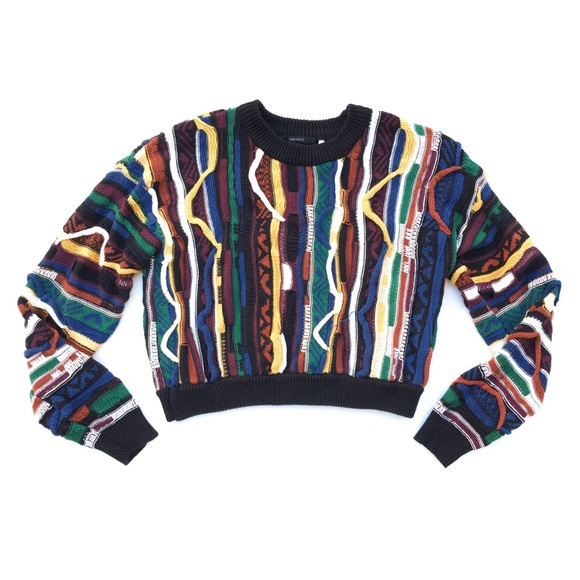 Forever 21 Tops - Forever 21 Colorful Knit Coogi Crop Top Sweater S